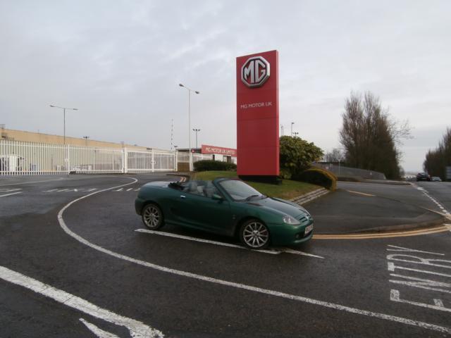 MG TF at Longbridge