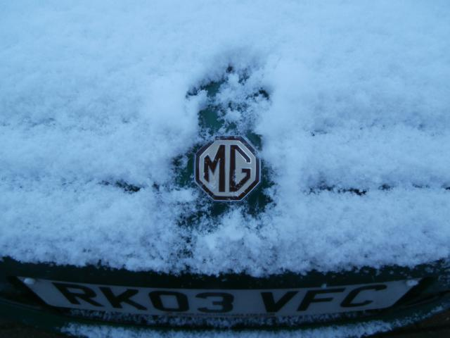 MG Badge in the Snow