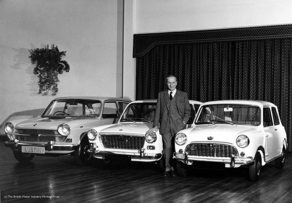 Alec Issigonis and his full range of cars