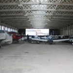 A look inside one of Old Sarum's vintage hangars