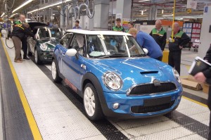 MINIs on the production line
