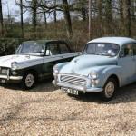 Triumph Herald and a Morris Minor